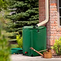 Home Solutions Collapsible Rain Barrel Water Storage - 50 Gallon