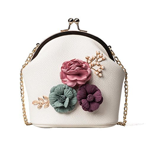 LMMVP Crossbody Stereo Purse Gift by Ladies Women Handbag Small Bag Bag Fashion Shoulder Tote Beige Flowers Bag wZO4tq