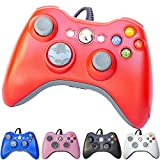 xbox 360 remote - PomeMall USB Wired Game Pad Controller for Xbox 360, Windows 7 (X86), Windows 8 (X86) (Red)