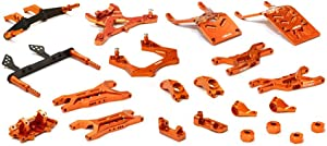 Integy RC Model Hop-ups T8651ORANGE Billet Machined T3 Complete Suspension Kit for 1/10 Stampede 2WD