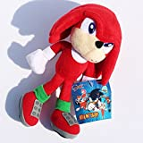 23cm Sonic the Hedgehog Red Knuckles the Echidna Plush Doll Toy Stuffed Animal Teddy