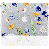 iDonzon MacBook Air 13 Case, 3D Effect Matte Clear See Through Hard Case Cover Only Compatible MacBook Air 13 inch (Model: A1369 & A1466) - Floral Pattern