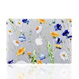 iDonzon MacBook Air 13 Case, 3D Effect Matte Clear See Through Hard Case Cover for MacBook Air 13 inch (Model: A1369 & A1466) - Floral Pattern