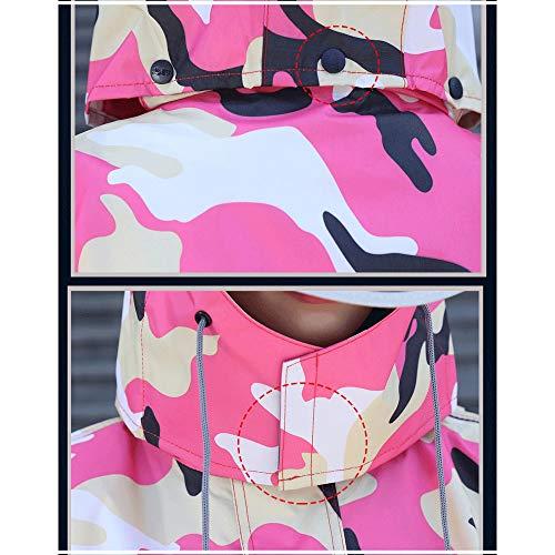 Impermeabile Cyan Donna Geyao Poncho Trekking Per Size Uomo Xxl Lungo Impermeabili color All'aperto Conch E Con Adulti Pink qIzF6