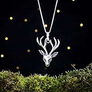 Sterling Silver Stag Head - House Baratheon - (Pendant or Necklace)