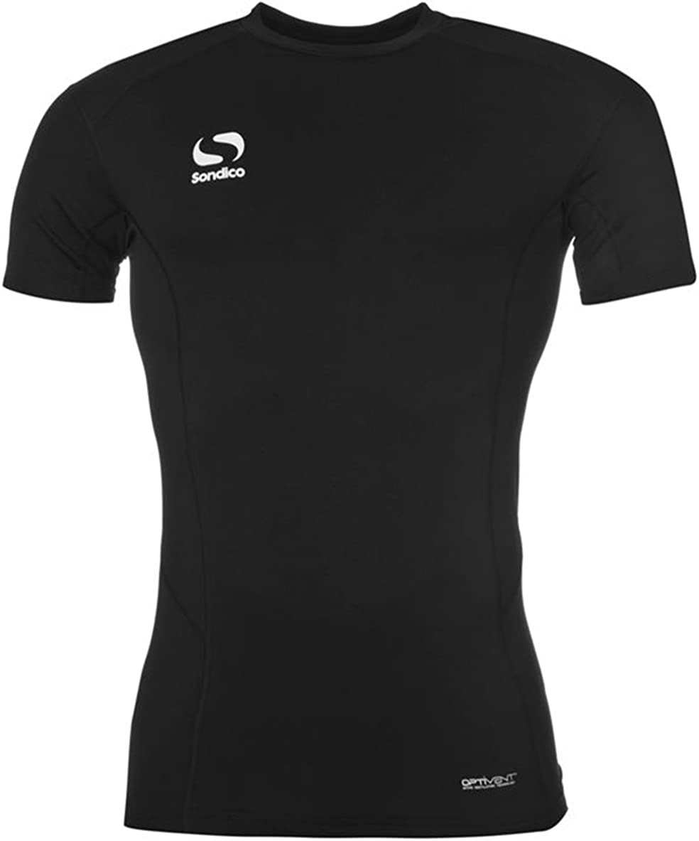 Sondico Juniors Boys Short Sleeves Mesh Base Layer Training Top
