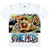 Anime One Piece Straw Hat Pirates T-Shirt Summer Printed Short Sleeves T-Shirt Tee Straw Hat Pirates1,US L