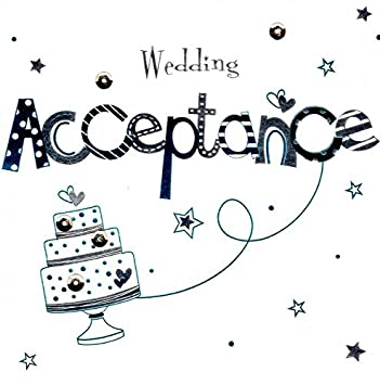 handmade wedding invitation acceptance greeting card by talking