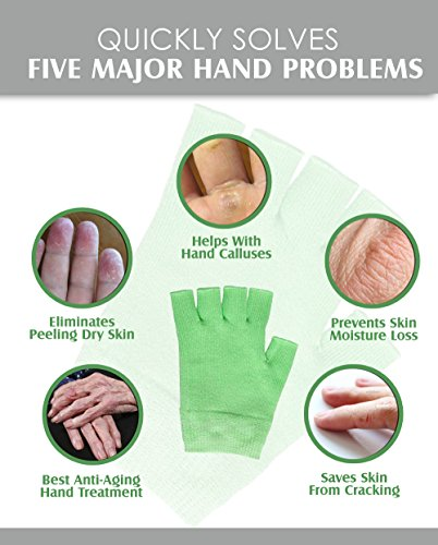 Best Gel Cotton Moisturizing Gloves Touch Screen Eczema
