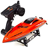 Remote Control Boat for Pools and Lakes, High Speed 30 km/h Self Righting Electric RC Boat for Kids and Adults Pool & Outdoor Use (2019 Version)
