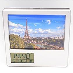 Boyan New France Paris Eiffel Tower Creative Digital Alarm Clock Desk Clock Multifunctional Alarm Clock