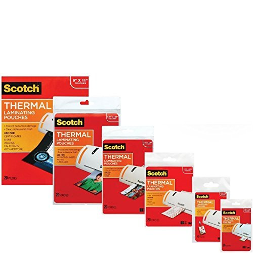 3M Laminating Pouch Kit with All Varieties of Laminating Pouches (1) ()