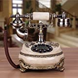 WXL Telephone European Style Classical Craft Antique Telephone Retro Home Landline Telephone (Color : C, Size : L25CMW20CMH23CM)