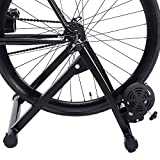 Happyskymall Magnet Steel Bike Indoor Exercise Magnetic Resistance Bicycle Trainer Bike Stand for for 26''~28'' and 700C Wheel Sizes