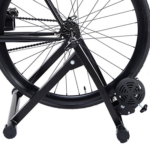 Happyskymall Magnet Steel Bike Indoor Exercise Magnetic Resistance Bicycle Trainer Bike Stand for for 26''~28'' and 700C Wheel Sizes by Happyskymall