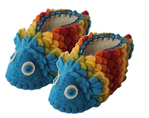 Silk Baby Shoes - Silk Road Bazaar Fish Zooties, 0-12 Months