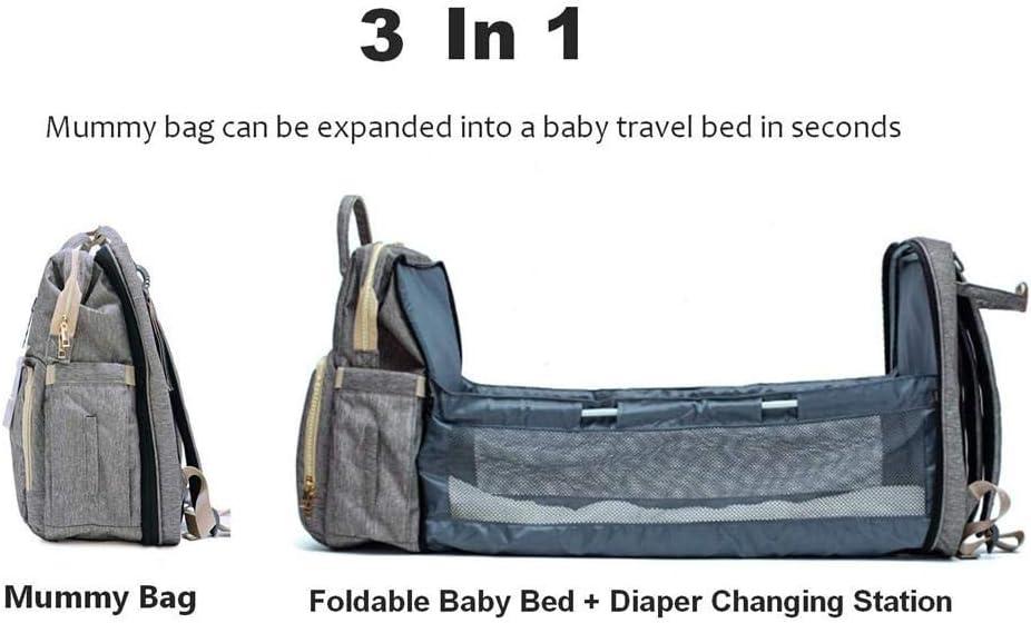 pologyase Tragbare Wickeltasche 4-in-1 Klappbett Krippe Mama Tasche Baby Travel Backapack Baby Bett Windel Wickeltisch Pads f/ür Mama Papa Baby