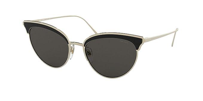 Prada 0PR 60VS Gafas de sol, Pale Gold/Black, 54 para Mujer ...