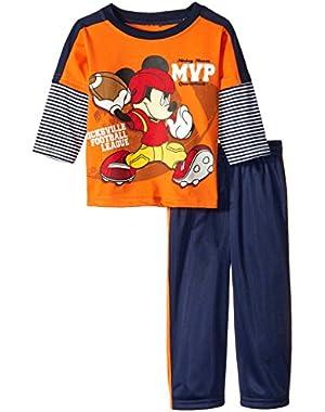 Disney Baby Boys' 2 Piece Mickey Mvp Pant Set