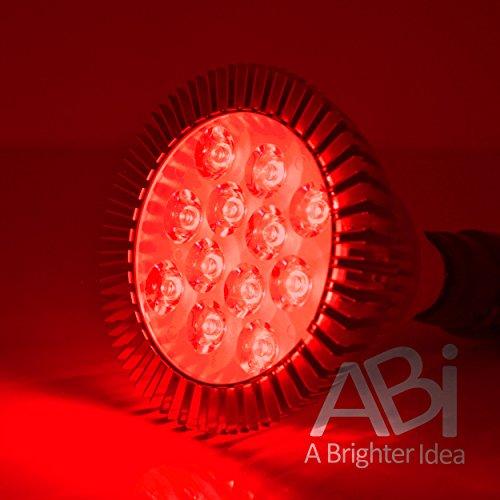 ABI 12W Red 620-630nm PAR38 LED Grow Light Bulb for Flowering