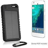Google Pixel XL Battery, BoxWave [Solar Rejuva PowerPack (5000mAh)] Solar Powered Backup Power Bank for Google Pixel XL - Jet Black