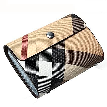 credit card holder for women credit card protector plaid case business card holder - Business Card Holder For Women