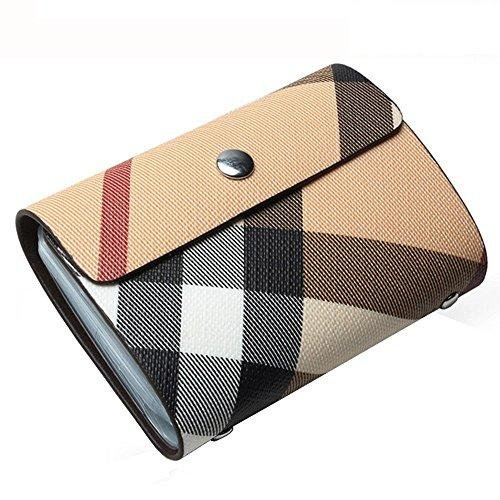 Credit Card Holder for Women-Credit Card Protector Plaid Case-Business Card Holder