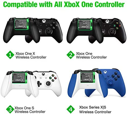Controller Battery Pack for Xbox One/Xbox Series X|S, Rechargeable Battery Pack with Xbox One Charger, 2x2600 mAh Battery Pack Work with Xbox Series X|S/Xbox One/Xbox One S/Xbox One X/Xbox One Elite