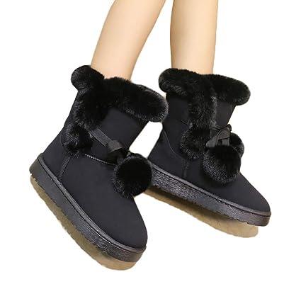2bafa265e1371 Amazon.com: Eric Carl Women Winter Flat Boots Cute Snow Ankle Boot ...