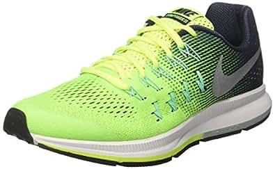 Nike 834316-701, Zapatillas de Deporte Niño, Amarillo (Volt / Metallic Silver / Obsidian Green Glow), 34 EU