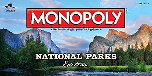 Monopoly National Parks Edition Board Game | Themed National Park Game | Buy, Sell & Trade Iconic Parks Like Yellowstone & The Grand Canyon |Themed Game]()
