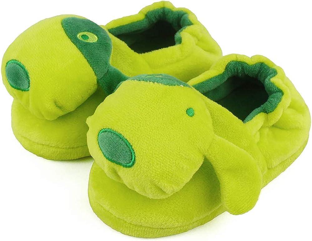 LACOFIA Kids Girls Anti-Slip Rubber Sole Shoes Children Winter Warm Animal Slippers