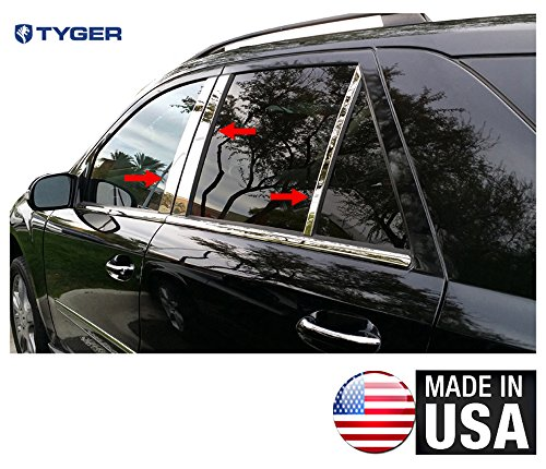 Made in USA! Fit 06-2011 Mercedes ML 350 6 PC Stainless Steel Chrome Pillar Post Trim