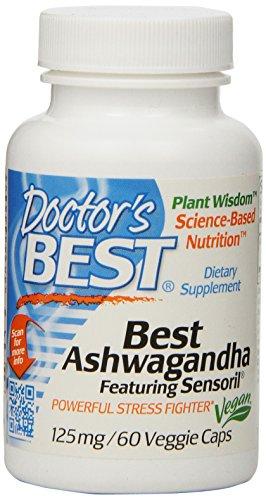 Доктора Лучший Ashwagandha Благодаря Sensoril Veggie капсулы, 60 граф