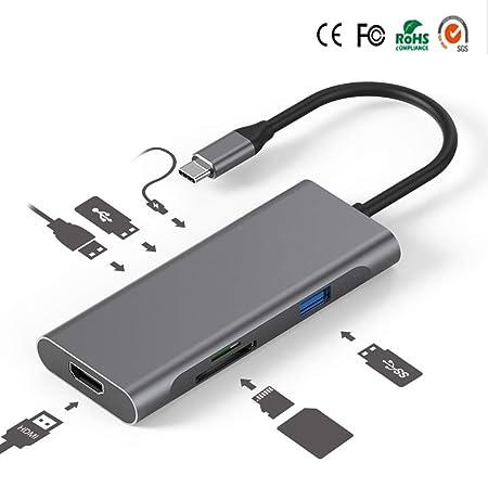 Adaptador 7 En 1 VOTECH USB C Hub con HDMI, Carga PD Tipo C, 3 ...