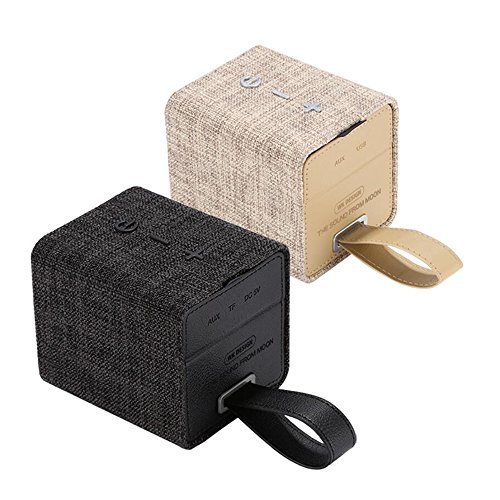 MKDMiD Fabric Art Portable Bluetooth V2.1 Speaker, Portable Wireless Speaker Stereo with Hands-free Microphone/ TF Card Music Playing (B / Yellow) by MKDMiD