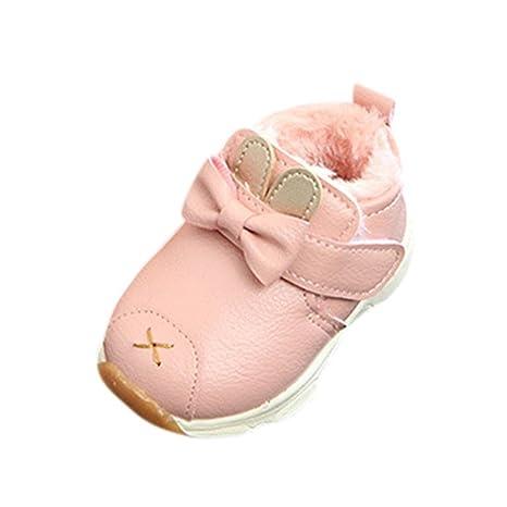 db74df2af autumnfall bebé zapatos para bebé Niños Niñas Invierno Ear Cartoon piel  sintética suave suela zapatillas botas