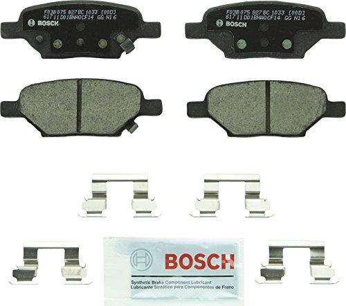 (Bosch BC1033 QuietCast Premium Ceramic Rear Disc Brake Pad Set)