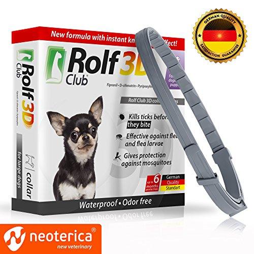 FLEA Collar for Dogs – Flea and Tick Prevention for Dogs – Dog Flea and Tick Control for 6 Months – SAFE Tick Repellent – WATERPROOF Tick Treatment