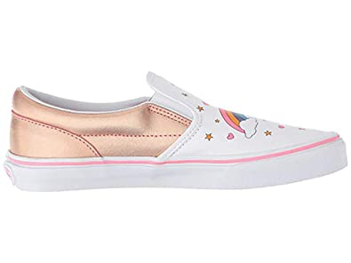 Vans Girls Unicorn Rainbow Classic Slip-On Shoes Size 4.5 30e2fe47e