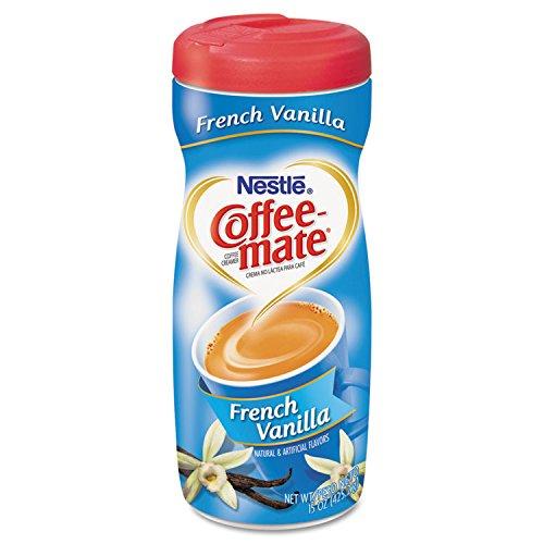 Coffee-mate 35775 French Vanilla Creamer Powder, 15oz Plastic Bottle