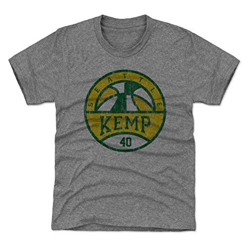 500 LEVEL Shawn Kemp Seattle Sonics Youth Shirt (Kids Medium (8Y), Tri Gray) - Shawn Kemp Basketball SEA G