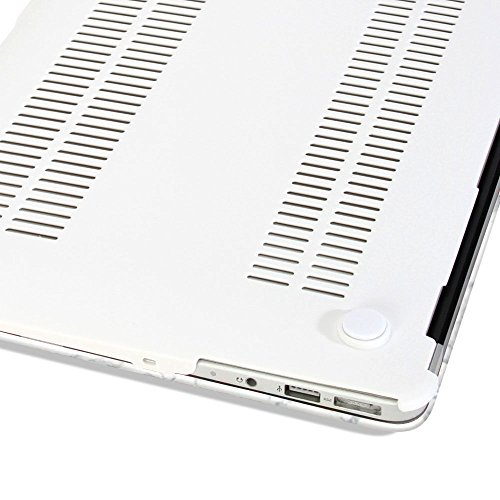 Rinbers-Hard-Case-Print-Frosted-White-Marble-Design-Rubber-Coated-Hard-Shell-Case-Cover-with-Keyboard-CoverScreen-Protector-for-Apple-MacBook-Air-13-133-Model-A1369A1466