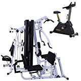 Fitness Factory Body-Solid EXM3000LPS Home Gym with Commercial Upright Bike