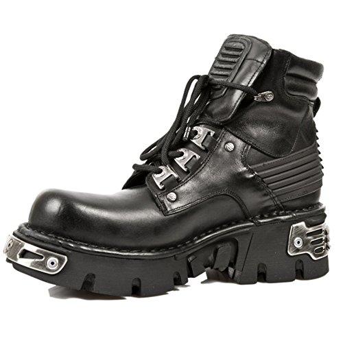 Stivali neri uomo 924 Rock in New Metallic M Stivali S1 pelle boot T0p7w