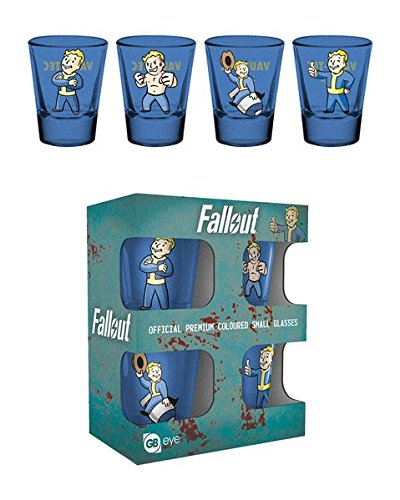 Fallout - 4 Piece Shot Glass / Shooters Set