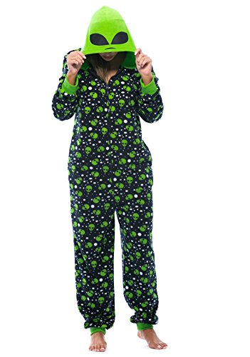 Just Love 6350-S Adult Onesie/Womens Pajamas Alien Small -