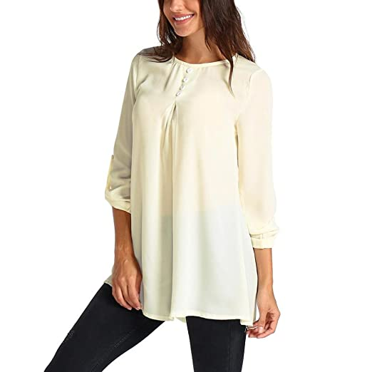 361d594d96a AOJIAN T Shirt Blouse Women Summer Pure Color Casual Loose Tee Tops Fashion  2018 Beige