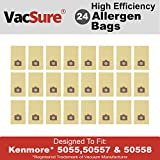VacSure Vacuum Bags To Fit Kenmore Canister Type C 5055, 50557 & 50558 Panasonic Type C-5 (24-Pack)