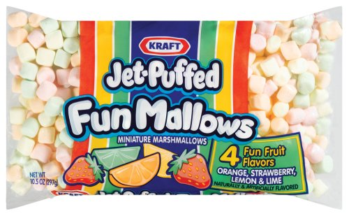Jet-Puffed Funmallows Marshmallows, 10.5-Ounce Bags (Pack of 24) by Jet-Puffed